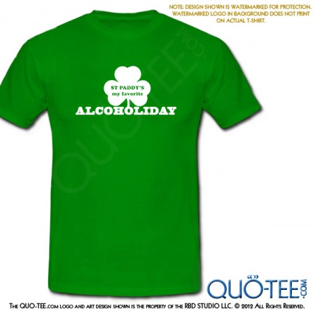 St Paddy's St Patricks Alcoholiday Tee