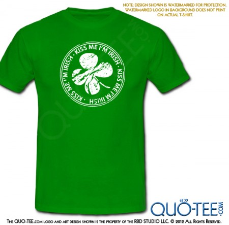 St Paddy's St Patricks Kiss Me I'm Irish Tee