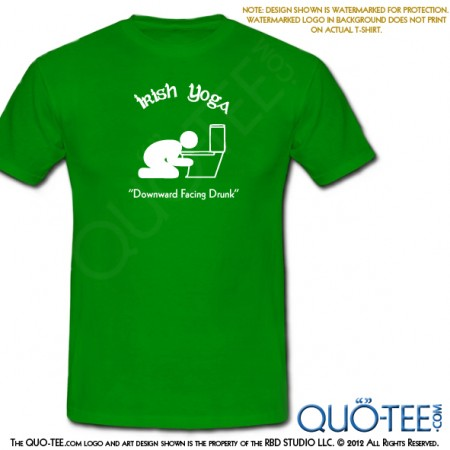St Paddy's St Patricks Irish Yoga Tee